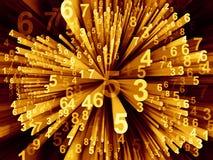 Gegevens verwerkende Bewegende Cijfers Royalty-vrije Stock Fotografie