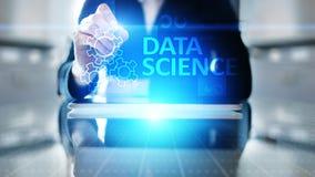 Gegevens wetenschap en diep het leren Kunstmatige intelligentie, Analyse Internet en modern technologieconcept royalty-vrije stock afbeelding