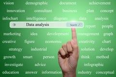 Gegevensanalyse stock illustratie