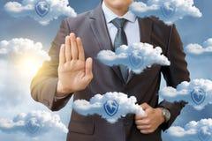 Gegevensbescherming in het netwerk royalty-vrije stock afbeeldingen