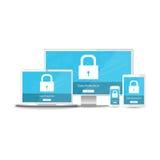 Gegevensbescherminginformatie voor al uw apparaten Royalty-vrije Stock Foto's