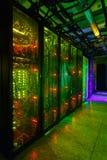 Gegevenscentrum, Serverruimte de telecommunicatietechnologie van Internet en van het netwerk royalty-vrije stock foto