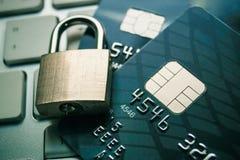 Gegevensencryptie op creditcard Stock Afbeelding