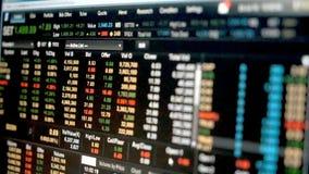 Gegevensgrafiek van effectenbeurs financiële grafiek, effectenbeursgegevens over leiden stock footage
