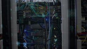 Gegevensservers van cyberaanval die worden blootgesteld vector illustratie
