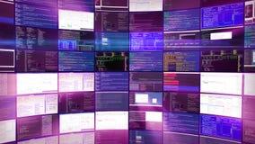 Gegevensverwerking in gegevenscentrum het ontvangen leverancierspurple stock videobeelden