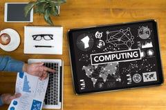 GEGEVENSVERWERKING (het Digitale Geheugen van de gegevenscomputer) stock fotografie