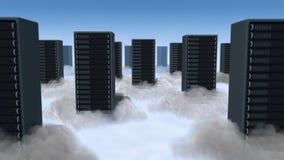 Gegevensverwerking in Wolken Stock Fotografie