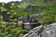 Geghard神圣的修道院在亚美尼亚 库存照片
