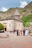 GEGHARD, ARMENIA-JUNE,26: Tourists at 4th century Stock Photo