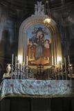 Geghard Armenien - September 16, 2017: Inom en Geghard medieva Royaltyfri Foto