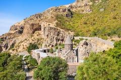 Geghard kloster, Armenien arkivbilder