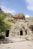 Geghard kloster, Kotayk, Armenien, unik archite Royaltyfri Foto