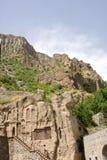 Geghard kloster, Kotayk, Armenien, unik archite Arkivfoto