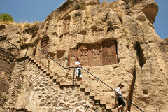 Geghard monastery Stock Images