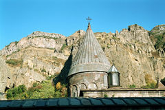 Geghard monastery Armenia. Tower of Geghard monastery in Kotayk, Armenia Stock Photos