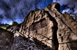Geghard monastery, Armenia. Geghard monastery in Armenia, carved cross-stones Stock Image
