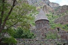 Geghard monastery in Armenia Royalty Free Stock Photos