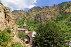 Geghard monastery in Armenia Stock Photography