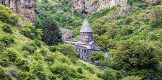 Geghard monastyr, Armenien Arkivbilder