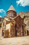 Geghardavank or Geghard monastic complex is Orthodox Christian monastery, Armenia. Armenian architecture. Pilgrimage place. Religi Stock Image