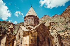 Geghardavank or Geghard monastic complex is Orthodox Christian monastery, Armenia. Armenian architecture. Pilgrimage place. Religi Royalty Free Stock Image