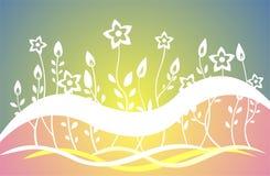 Geglanste bloemen stock illustratie