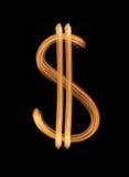 Geglanste dollar Stock Foto
