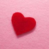Geglaubtes rotes Inneres auf rosa Hintergrund. Lizenzfreies Stockfoto