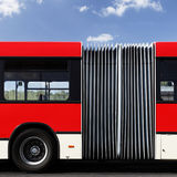 Gegliederter Bus Stockbild
