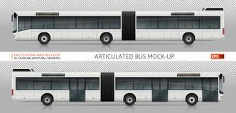 Gegliedertes Busvektormodell Lizenzfreie Stockfotografie