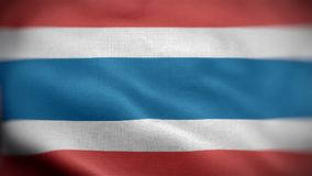 Gegolfte close-up van de vlag van Thailand stock videobeelden