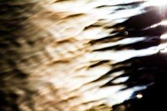 Gegolfte Oppervlakte van een Meer op Zonsondergang Royalty-vrije Stock Foto