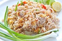 Gegorener Schweinefleisch-gebratener Reis Stockbild