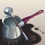 Gegoten koffie Royalty-vrije Stock Afbeeldingen