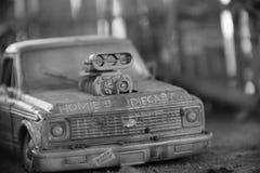 Gegoten stuk speelgoed van actiecijfers stock fotografie