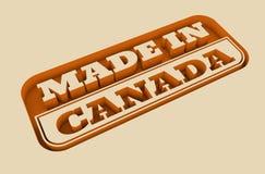 Gegraveerde zegel met gemaakt in de tekst van Canada Stock Fotografie