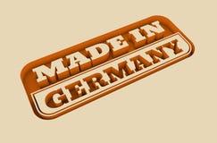 Gegraveerde zegel met gemaakt in de tekst van Duitsland Stock Foto's