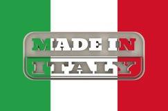 Gegraveerde zegel met gemaakt in de tekst van Italië Royalty-vrije Stock Foto