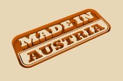 Gegraveerde zegel met gemaakt in de tekst van Oostenrijk Royalty-vrije Stock Foto's