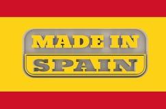 Gegraveerde zegel met gemaakt in de tekst van Spanje Royalty-vrije Stock Foto
