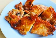Gegrillte asiatische Artnahaufnahme des Huhns Stockbild