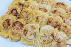 Gegrillte Bananen Stockfotos