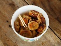 Gegrillte Bananen des thailändischen Nachtischs Lizenzfreies Stockbild
