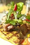Gegrillte BBQ-Huhn-Verkleidung Stockfotos