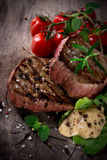 Gegrillte bbq-Steaks Stockbild
