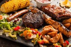 Gegrillte Fleischmischung Texs mex stockfotografie