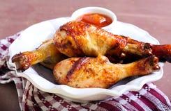 Gegrillte Hühnerbeine Lizenzfreies Stockbild