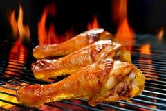 Gegrillte Hühnerbeine Stockfotografie