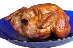 Gegrillte Henne auf Teller Lizenzfreies Stockbild